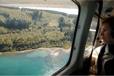 Scenic flight by sea plane, Taupo's Float Plane